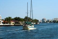 Palm Beach vid havet Arkivbilder