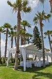 Palm beach wedding pavilion Stock Photos