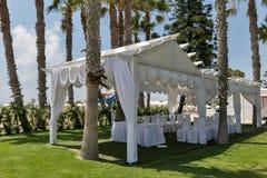Palm beach wedding pavilion Stock Image