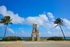 Palm Beach Worth Avenue clock tower Florida Royalty Free Stock Images