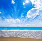 Palm Beach wyrzucać na brzeg linię brzegową Floryda USA Zdjęcie Royalty Free