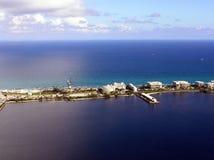 Palm Beach y lago del sur digno de la opinión aérea del embarcadero Fotografía de archivo libre de regalías