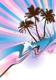 Palm- Beachvektor Lizenzfreies Stockbild