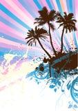 Palm- Beachvektor Stockfoto