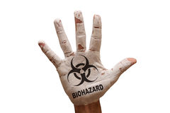 Palm biohazard Stock Photo