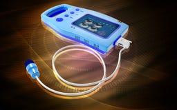 Palm Bladder Scanner. Digital illustration of palm bladder scanner in colour background Stock Photos