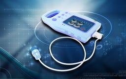Palm Bladder Scanner. Digital illustration of palm bladder scanner in colour background Royalty Free Stock Photography