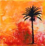 Palm-boom kunstwerk Royalty-vrije Stock Fotografie