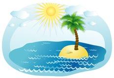 Palm-boom, vectorillustratie Stock Afbeelding