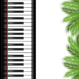Palm branch and piano template Stock Image