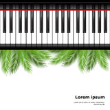 Palm branch and piano template Royalty Free Stock Image