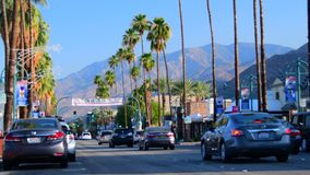 Palm Canyon Dr stock footage
