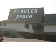 Palm coast. Fun at Flagler beach Stock Photos