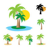 Palm collection Royalty Free Stock Images