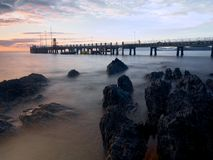 Palm Cove in Australia. Looking at the Pier in Palm Cove Queensland Royalty Free Stock Image