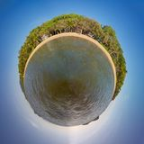 Palm Cove in Australia. Mini world of Palm Cove in Queensland Australia stock photos