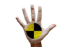 Palm crash test dummies Royalty Free Stock Photo