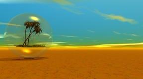 Palm in 3D bel - geef terug Royalty-vrije Stock Afbeeldingen
