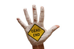 Palm dead end Royalty Free Stock Photography