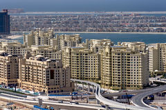 Palm Dubai, Under construction. The under construction of Palm Dubai, the largest man made island in the world Royalty Free Stock Photography