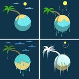 Palm en weer royalty-vrije illustratie