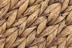 Palm Fiber Place Mat Coarse Plaiting Rustic Grunge Texture Detail Stock Image