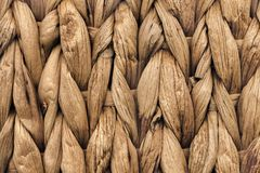 Palm Fiber Place Mat Coarse Plaiting Rustic Grunge Texture Detail Stock Photos