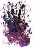 Palm and finger prints Royalty Free Stock Image