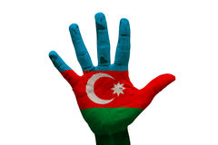 Palm flag azerbaijan Royalty Free Stock Photos