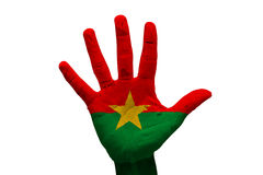 Palm flag burkina faso Stock Photography