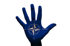 Palm flag nato Stock Photos