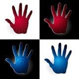 Palm formade logodesign med effekt 3D Arkivbilder