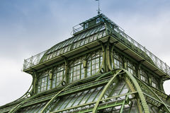 Palm House building Palmenhaus, an art nouveau structure at the imperial garden of Schonbrunn in Vienna, Austria. Palm House building Palmenhaus, an art nouveau Stock Photos