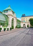 Palm house in Burggarten in Vienna Austria Royalty Free Stock Images