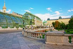 Palm house in Burggarten in Vienna in Austria Royalty Free Stock Images