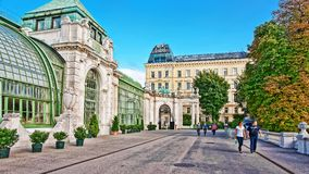 Palm house in Burggarten in Vienna of Austria Royalty Free Stock Image