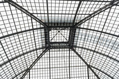 Palm house roof detail. Detail showing steel beams and frame Stock Images