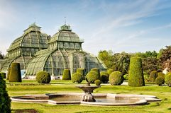 The Palm House in Schoenbrunn Palace in Vienna Royalty Free Stock Photography