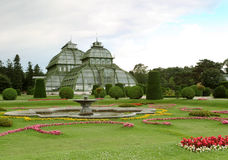 Palm house in Schonbrunn Royalty Free Stock Photos