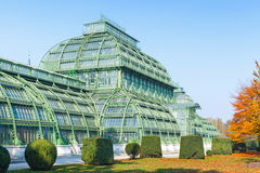 The Palm house, Schonbrunn Palace in Vienna Stock Images