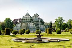 The Palm House in Schonbrunn Palace, Vienna Royalty Free Stock Images