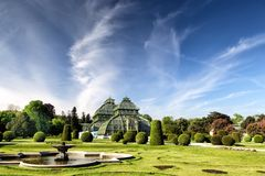 The Palm House in Schonbrunn Palace in Vienna Royalty Free Stock Photo