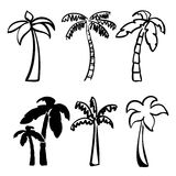 Palm  icon sketch  cartoon vector illustration Stock Photos