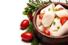 Palm ingredient. Low calorie food extracted from the acai palm tree Stock Image