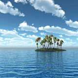 Palm Island Royalty Free Stock Images