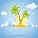 Palm island Stock Photos