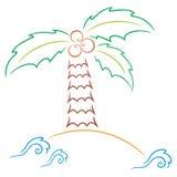 Palm at island Royalty Free Stock Image
