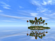 Palm Island Royalty Free Stock Image