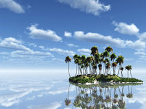 Palm Island Royalty Free Stock Photo