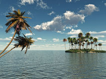 Palm Island Royalty Free Stock Photography